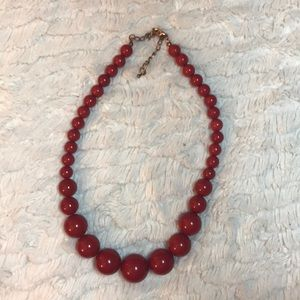 Jewelry - Red vintage beaded necklace